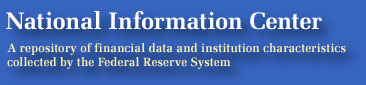 National Information Center: A repository of Financial Data and institution characteristics collected by the Federal Reserve System
